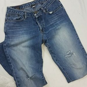 Abercrombie and Fitch button fly distressed jeans